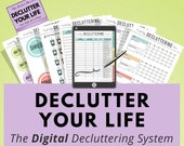 Digital Decluttering Planner, iPad Tablet, Goodnotes, Digital Notebook, Notability, Digital Planning, Spring Cleaning, Home Checklist, Chore