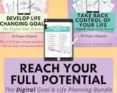 Digital Goal Planner & Life Planner Bundle, Digital Planning, Goodnotes, Notability, iPad Tablet, Digital Goal Journal, Digital Notebook