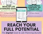 Digital Goal Planner & Life Planner Bundle, Digital Planning, Goodnotes, Notability, iPad Tablet, Digital Goal Journal, Digital Notebook