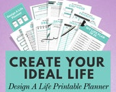 Life Planner, Goal Printable Planner, Self Care Planner, Wellness Journal, Goal Tracker, Goal Journal, Happy Planner