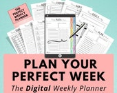 Digital Weekly Planner, Life & Goal Planner, iPad Tablet, Digital Journal, Goodnotes, Digital Notebook, Notability, Digital Planning