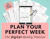 Digital Weekly Planner, Life & Goal Planner, iPad Tablet, Digital Journal, Goodnotes, Digital Notebook, Notability, Digital Planning