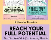 The Ultimate Goal Planner & Design A Life Planner in one great bundle, the best bundle to reach your full potential and fulfill your dreams