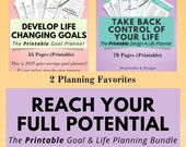 Printable Goal Planner & Design A Life Planner in one great bundle, the best bundle to reach your full potential and fulfill your dreams