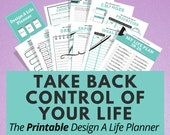 Printable Life Planner for Covid Relief, Goal Printable Planner, Self Care Planner, Wellness Journal, Goal Journal, Happy Planner
