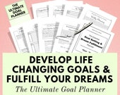 Goal Planner 2020, Life Planner, Printable Planner, Goal Journal, Goal Tracker, Wellness, Self Care, Happy Planner Inserts, Bullet Journal
