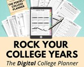 Digital College Planner, Academic Planner, Student Planner, Study Organizer, Assignment Planner, College Student Gift, College Accessory