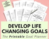 Printable Goal Planner - The Ultimate Goal & Dream Fulfillment Planner to find clarity about your life and feel motivated, Self Care