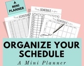Weekly schedule printable planner to organized your best week, undated planner, improve time management, daily routine, work agenda, A5