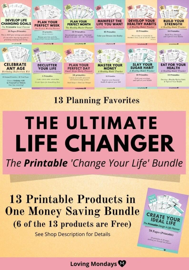 Life Planner Bundle Printable Weekly Planner Goal Planner image 0