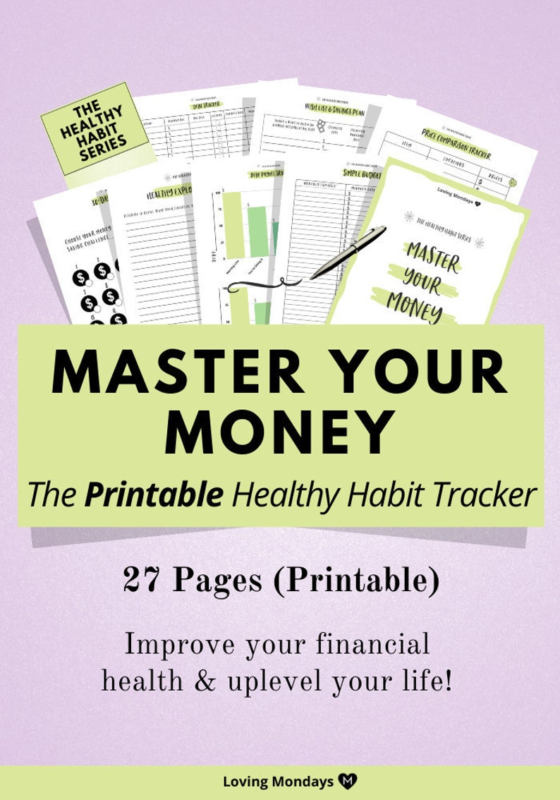 Printable Financial Planner Pack a simple approach to image 0