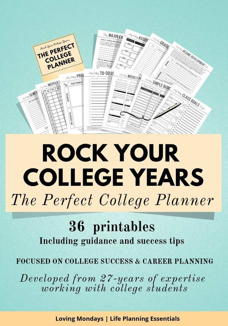 photograph regarding Printable College Student Planner identify School College student Planner, Educational Planner Printable, Analysis Organizer, Planner Accent, Assignment Planner, Higher education College student Reward
