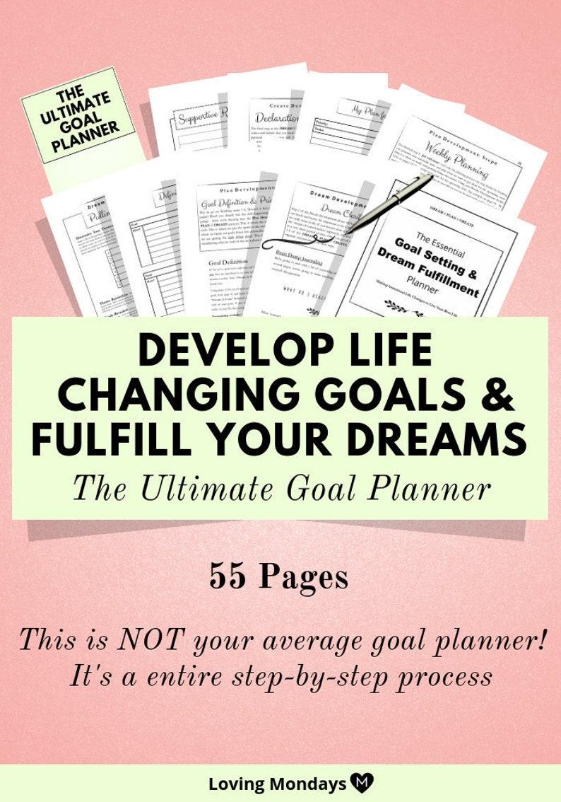 Goal Planner Life Planner Printable Planner Goal Journal image 0
