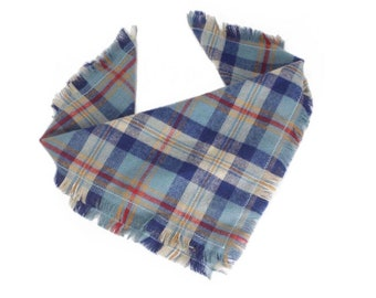 Fall Dog Scarf Fringe Puppy Bandana Tartan Plaid Pet Neckerchief VISTA: Winter Blue Dog Bandana Tie On Cat Scarf