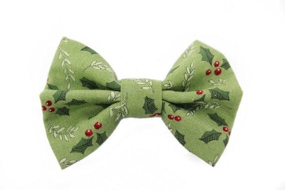 New Mistletoe Clip-On Cotton Bow Tie Choose Men/'s or Boys Holiday Bowtie