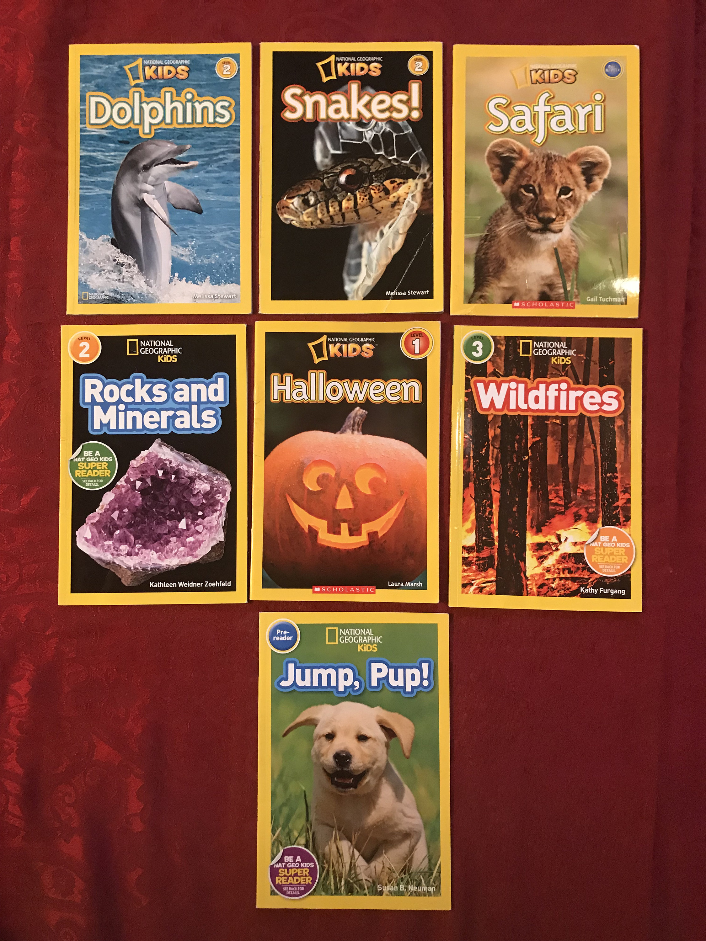 Set of 7 National Geographic Kids Books