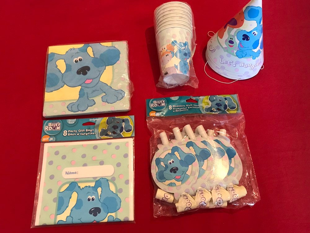 NEW  BLUE/'S  CLUES  8-PARTY HATS  PARTY SUPPLIES