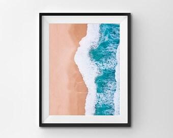 Wall Art Print, Ocean Print, Beach Print, Wave Print, Ocean from Above Print, Nature Print, Wall Art, Home decor, Australia art, aerial