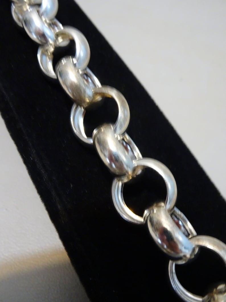 925 sterling silver wide Jasseron switch bracelet-years 70
