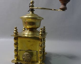 Yellow Copper Coffee grinder-France-1900s