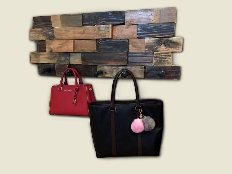 Industrial 3D Wood Wall Art Coat Rack - Industrial Pipe - Reclaimed Wood -  Handmade