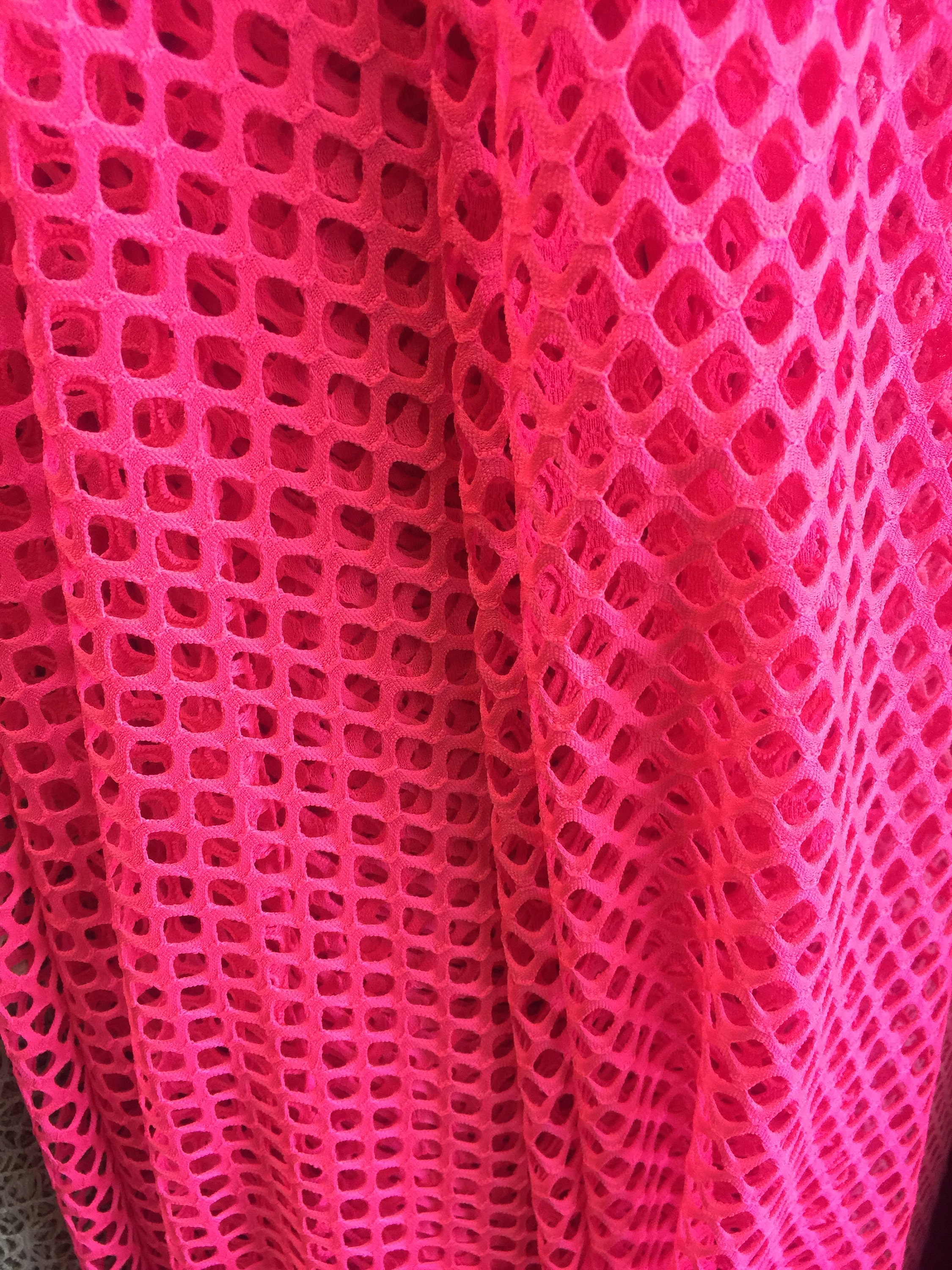 Fish Net 4 Way Stretch Nylon Spandex Lycra Neon Fuchsia