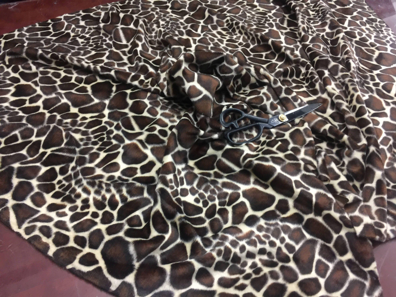 a1399ed605 Velboa Faux Fur Fabric Animal Print YOUNG GIRAFFE BROWN 60 W   Sold ...