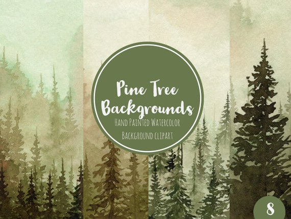 rustic forest watercolor backgrounds green pines wedding etsy rustic forest watercolor backgrounds green pines wedding invitation background clipart conifers pine trees forest woodland graphics