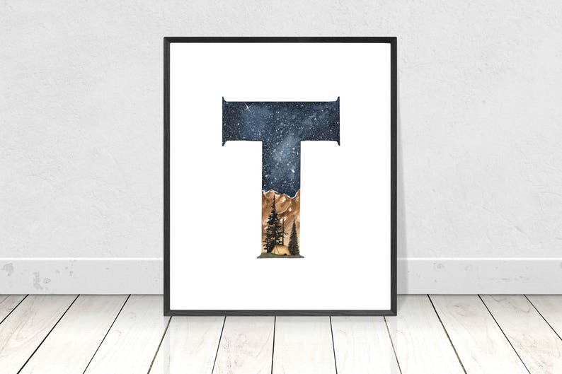 image relating to Printable Letter T called Letter T Printable Watercolour Alphabet Portray- Nursery Letter T Wall Artwork- Alphabet Letter T Artwork Print- Nursery Monogram Printable Letters