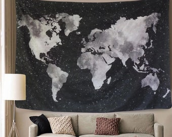 World map tapestry etsy world map in night starry sky tapestry world map tapestry world map wall art dorm tapestry world map art world map hanging dorm decor gumiabroncs Gallery