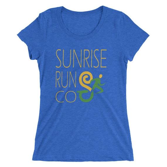Women's SunriseRunCo Eras Light TriBlend T-Shirt - Run Shirt - Women's Short Sleeve Running Shirt
