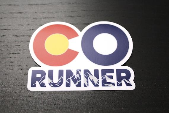 Colorado Runner Sticker - Vinyl Die Cut Sticker - Running Stickers - Run Colorado - Car Stickers