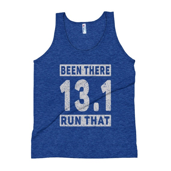 Unisex Been There Run That 13.1 Tank Top - Running Tank Tops - Run 13.1 - Half Marathon Runner - Triblend Singlet