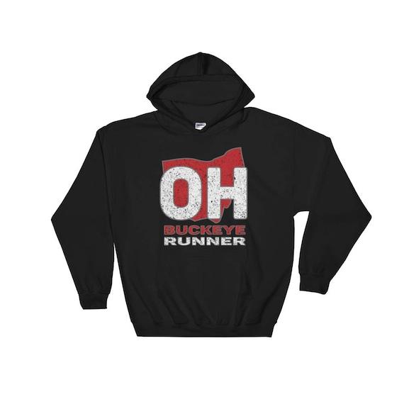 Buckeye Runner Hooded Sweatshirt - Unisex - Hoodie - Heavyweight Sweatshirt