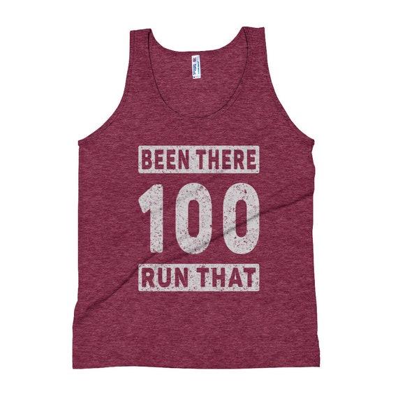 Unisex Been There Run That 100 Tank Top - Ultra Running Tank Tops - Run 100k - Run 100-miles - Triblend Singlet