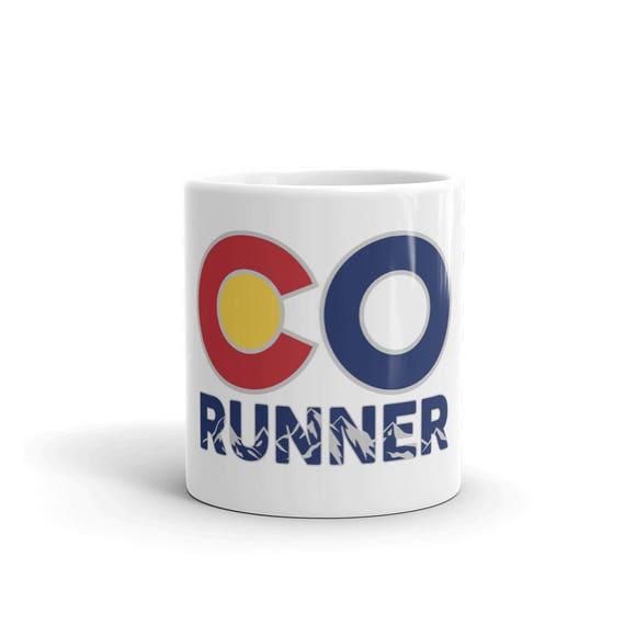 Colorado Runner Mug - Made in the USA - Run Colorado - 11 oz or 15 oz - Coffee Mug's for Runners