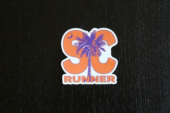 South Carolina Runner Sticker - Vinyl Die Cut Sticker - South Carolina Running Stickers - Run South Carolina - Car Stickers