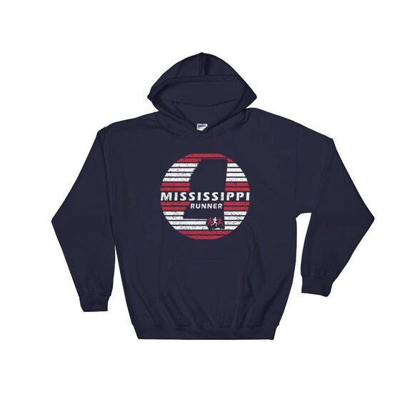 Mississippi Runner Hooded Sweatshirt - Unisex Hoodie - Run Mississippi - Heavy & Warm Sweatshirt