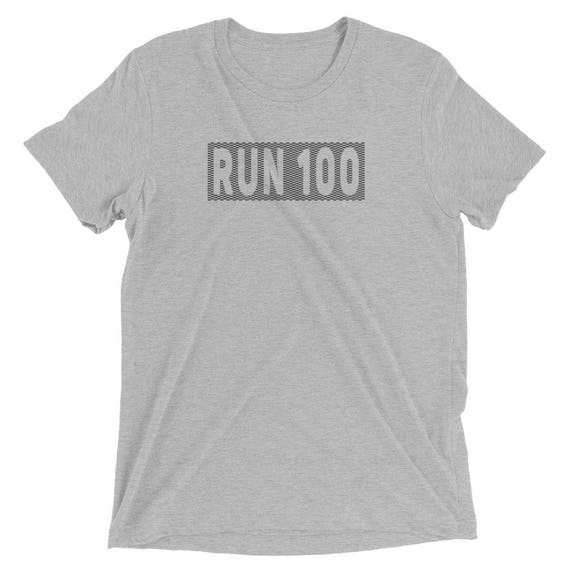 Men's Run 100 TriBlend T-Shirt - Ultramarathon - 100-Mile Runner - 100K Runner - Men's Short Sleeve Running Shirt