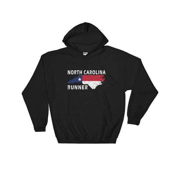 North Carolina Hooded Sweatshirt - Unisex Hoodie - Run North Carolina - Warm Sweatshirt