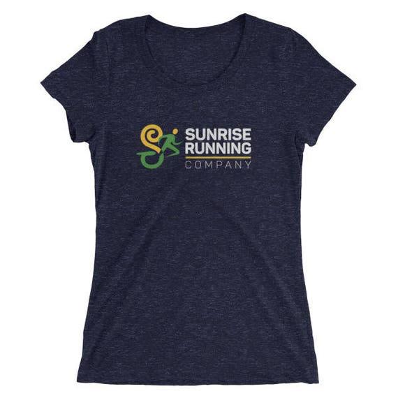 "Women's Sunrise Run Co ""Official"" Training TriBlend T-Shirt - Sunrise Running Company - Running T-Shirt"