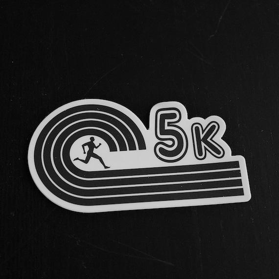 5K Runner Sticker - Vinyl Die Cut Sticker - Running Stickers - Run 5K - Car Stickers