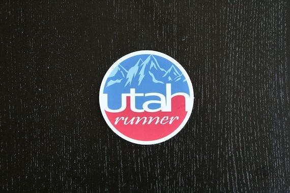 Utah Runner Sticker - Vinyl Die Cut Sticker - Utah Running Stickers - Run Utah - Car Stickers