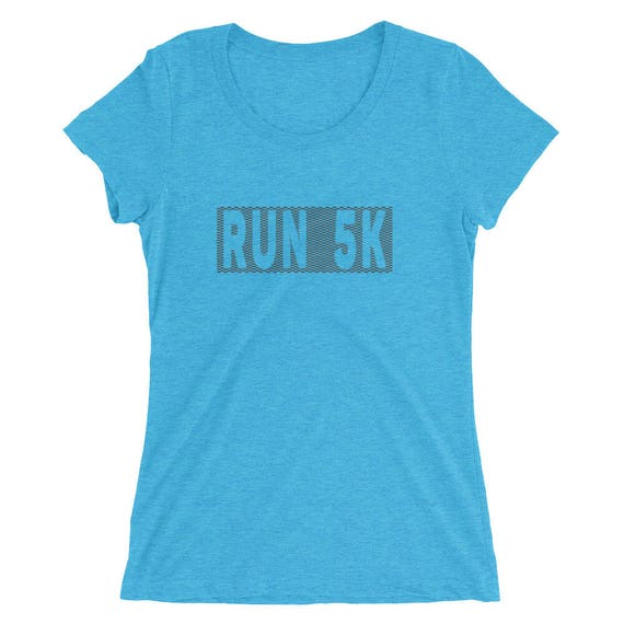 Women's Run 5K TriBlend T-Shirt - 5K Runner - Run 5K - Women's Short Sleeve Running Shirt