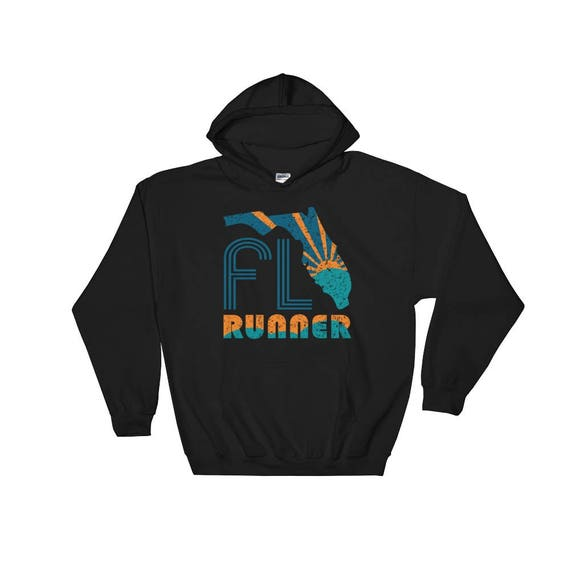 Florida Runner Hooded Sweatshirt - Unisex - Hoodie - Heavy Sweatshirt