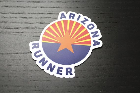 Arizona Runner Sticker - Vinyl Die Cut Sticker - Run Arizona - Running Stickers - Car Stickers