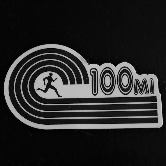 100-Mile Runner Sticker - Vinyl Die Cut Sticker - Ultra Running Stickers - Run 100-Miles - Car Stickers