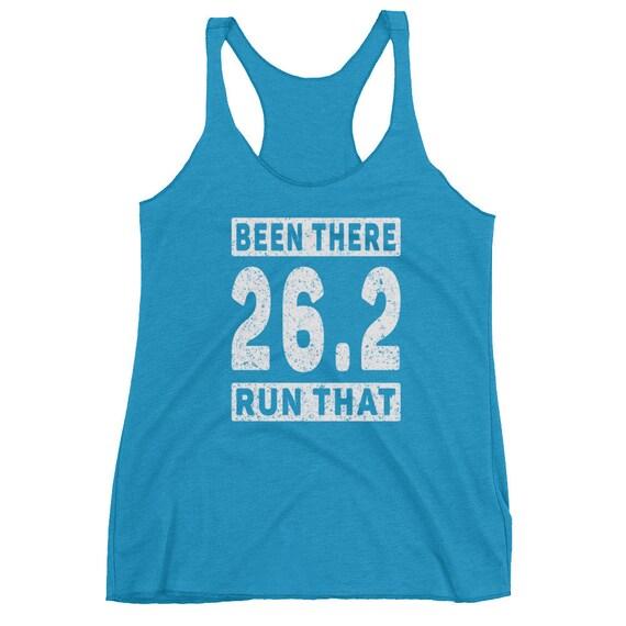 Been There Run That 26.2 Triblend Tank Top - Marathon Runner - Run 26.2 - Women's Racerback Tank