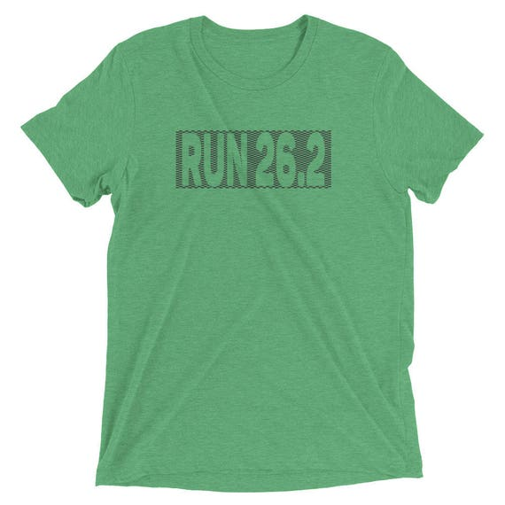Men's Checkered Run 26.2 TriBlend T-Shirt - Marathon T-Shirt - Men's Short Sleeve Running Shirt