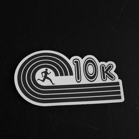 10K Runner Sticker - Vinyl Die Cut Sticker - Running Stickers - Run 10K - Car Stickers